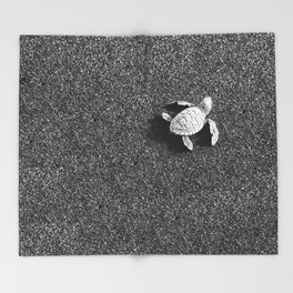 Guatemala - Sea Turtle to the Sea Throw Blanket