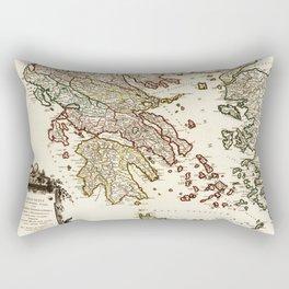 1752 Map of Greece Rectangular Pillow