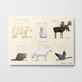 Canadian Animals Metal Print