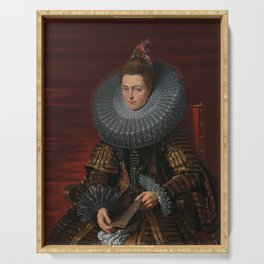 Tudor Lady in large Ruff collar Serving Tray