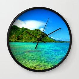 Kahana Bay ... By LadyShalene Wall Clock