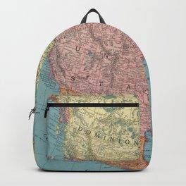 Vintage Map of North America (1903) Backpack