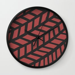 Lingering Lines Red Wall Clock