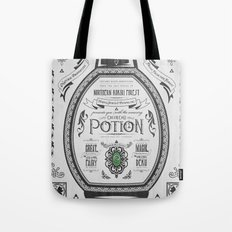 Legend of Zelda Green Chu Potion Advertisement Tote Bag