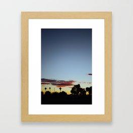 Sunset In The Park Framed Art Print