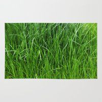 grass Area & Throw Rugs featuring grass by Кaterina Кalinich