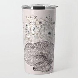 sleeping doe in bloom Travel Mug