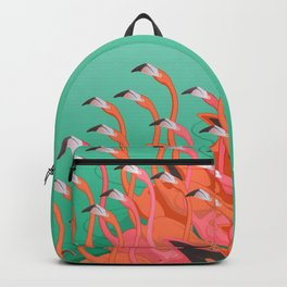 Fresco of the flamingoes. Backpack