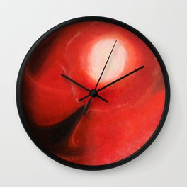Red Dancer in the Sky Wall Clock