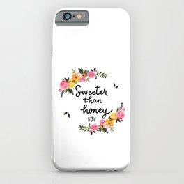 Sweeter Than Honey KJV Logo iPhone Case