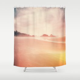 Technicolor Beach Dreams Shower Curtain