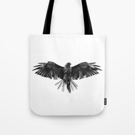Black Bird White Sky Tote Bag