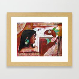 A Tale of One Fish Framed Art Print