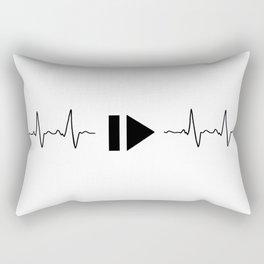 Music and heart pulse Rectangular Pillow