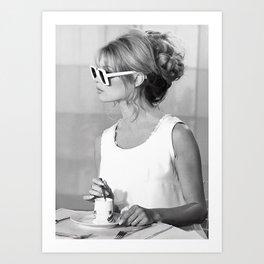Brigitte Bardot in Sunglasses Retro Vintage Art Art Print
