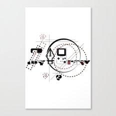 Pen Game Canvas Print