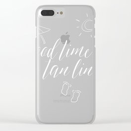 Good Times & Tan Lines Summer Beach Art Clear iPhone Case