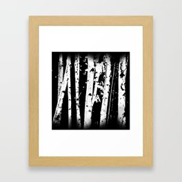 Black and White Birch Trees Fade Out Framed Art Print