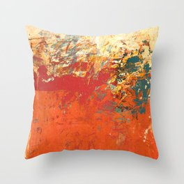 Transposing of the Waters Throw Pillow