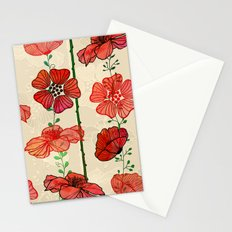 Hanging Poppy Garland Stationery Cards