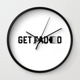 Get Faded Barber Haircut Fade Razor Trimmer Gift Men Wall Clock