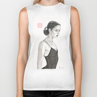 ballerina Biker Tanks featuring Ballerina by Bryan James