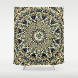Flower Of Life Mandala (Native Spirit) Shower Curtain