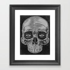 Behind the skull Framed Art Print