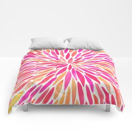 Watercolor Burst – Pink Ombré Comforters