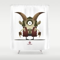 capricorn Shower Curtains featuring CAPRICORN by Angelo Cerantola