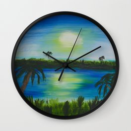 Sunset in Seminole Wall Clock