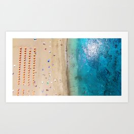 AERIAL. Summer beach Art Print