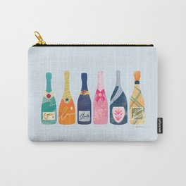Champagne Bottles - Blue Ver. Carry-All Pouch