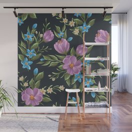 Beautiful retro flower seamless pattern Wall Mural