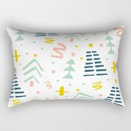 Abstact Holiday Pattern Rectangular Pillow