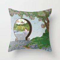 mulan Throw Pillows featuring Mulan by Lesley Vamos