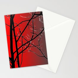 Red And Gray Stationery Cards