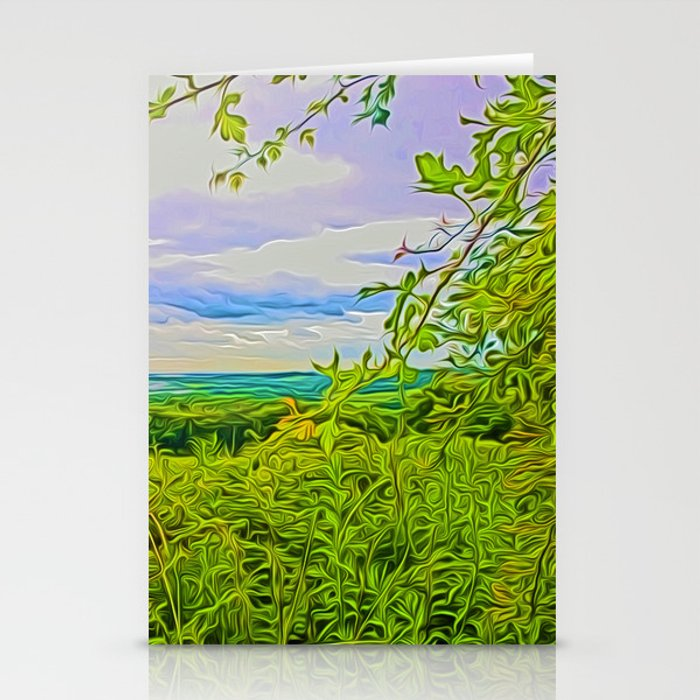 Parbold Hill (Digital Art) Stationery Cards