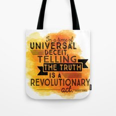 Revolutionary Act - quote design Tote Bag