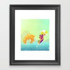Summertime Mermaid Framed Art Print