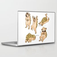 onesie Laptop & iPad Skins featuring Cute Hedgehog Lou! by Plebnut