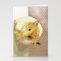 hamster Stationery Cards featuring Hamster by Lucie Mizutani