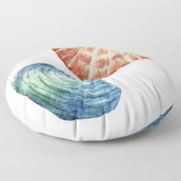 Colorful Shells Floor Pillow