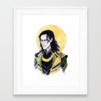 enerjax Framed Art Prints featuring Loki of Asgard by enerjax