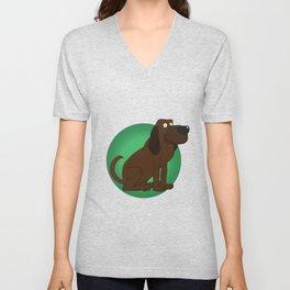 Bloodhound Illustration Unisex V-Neck