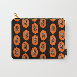Papaya fruit tropical nature vacation pattern healthy foods vegan gifts Carry-All Pouch