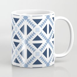 Geo Stamp Blue Coffee Mug