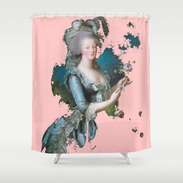 Marie Antoinette tribute pink Shower Curtain