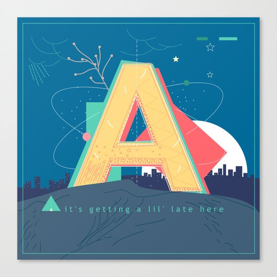 Alphabet A Canvas Print