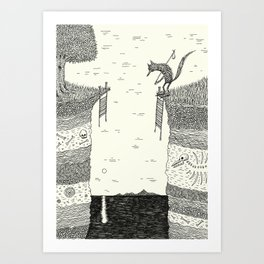 'Broken Bridge' Art Print
